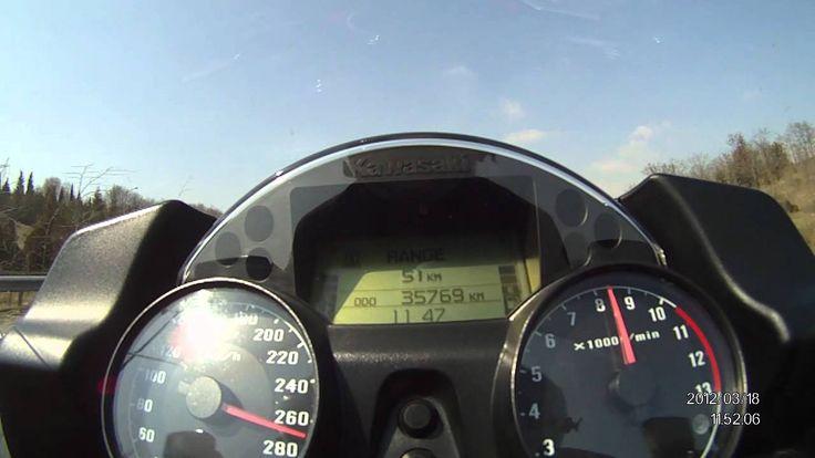 KAWASAKI GTR1400 ZG1400 TOP SPEED