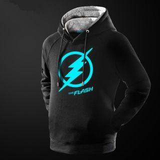 the flash fleece hoodie glow in the dark superhero hoodies for men