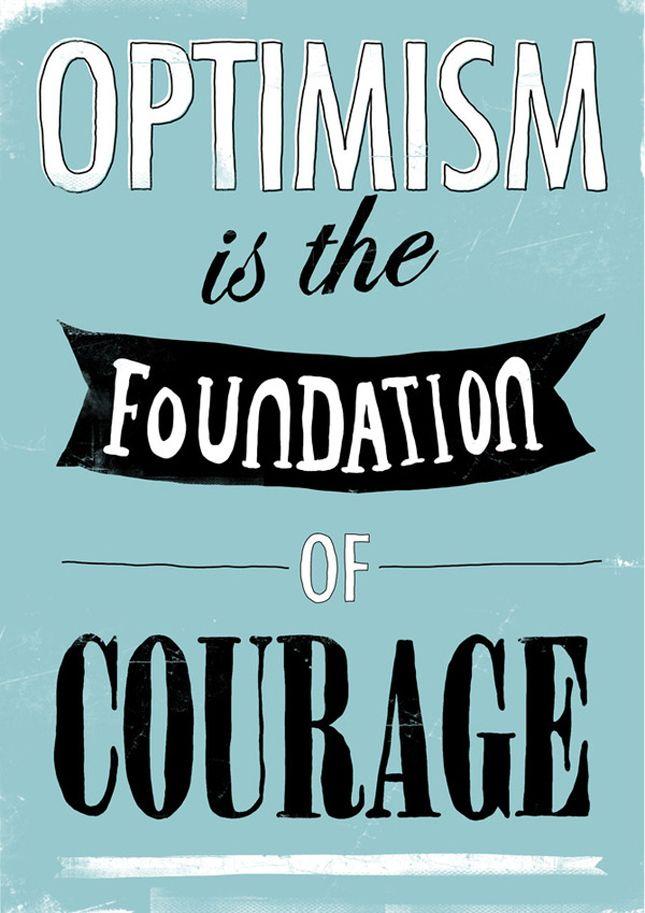 Ottimismo e coraggio
