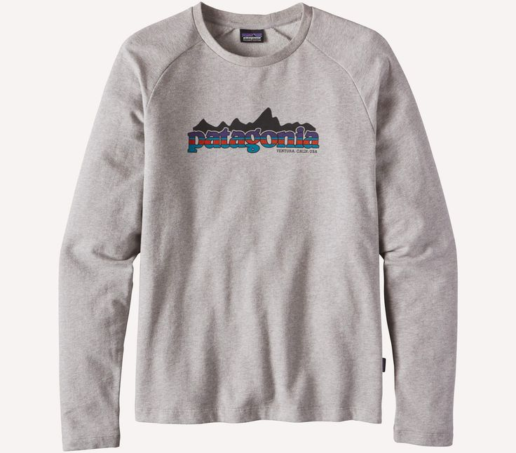 The Nightfall Fitz Roy Lightweight Crew Sweatshirt features lightweight, 6-oz knit fleece fabric that's made of a soft organic cotton(88%)/polyester(12%) blend, which is durable and comfy. Casual, sli