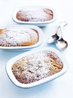 ginger, maple and pecan self-saucing puddings from donna hay