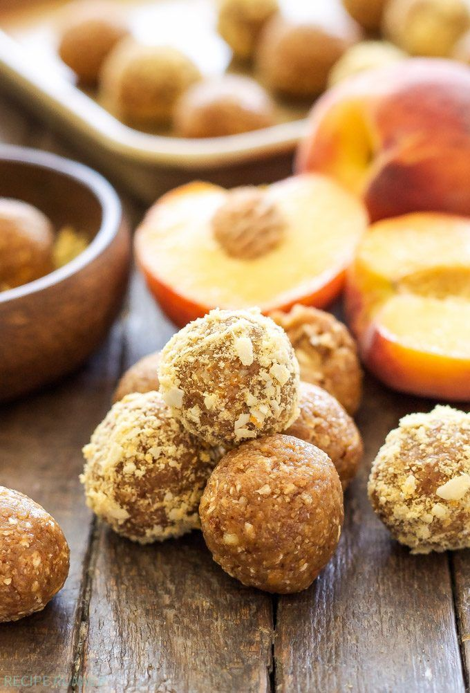 Freeze dried peaches give these Peach Pie Energy Bites an extra peachy flavor! A healthy, gluten-free, vegan, protein filled snack for peach lovers!