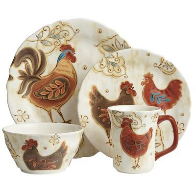 Gallo Dinnerware - Rooster Kitchen in my future?  sc 1 st  Pinterest & 35 best Corelle plates images on Pinterest | Corelle plates Dish ...