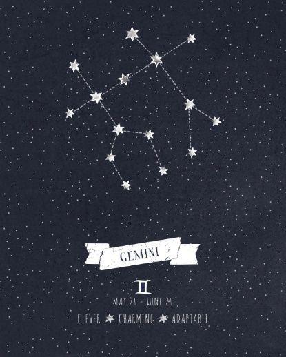 Gemini Constellation as a tattoo for my little Gemini babies