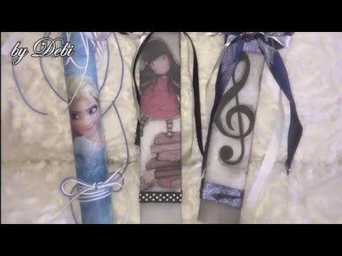 Decoration Of Easter Candles Tutorial - Διακοσμηση Πασχαλινης Λαμπαδας - Diy By Debi - YouTube