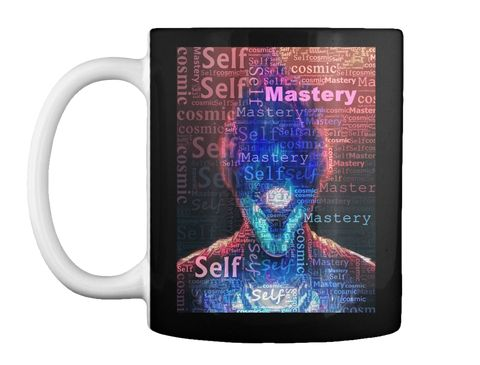 Master The Self Black T-Shirt Front