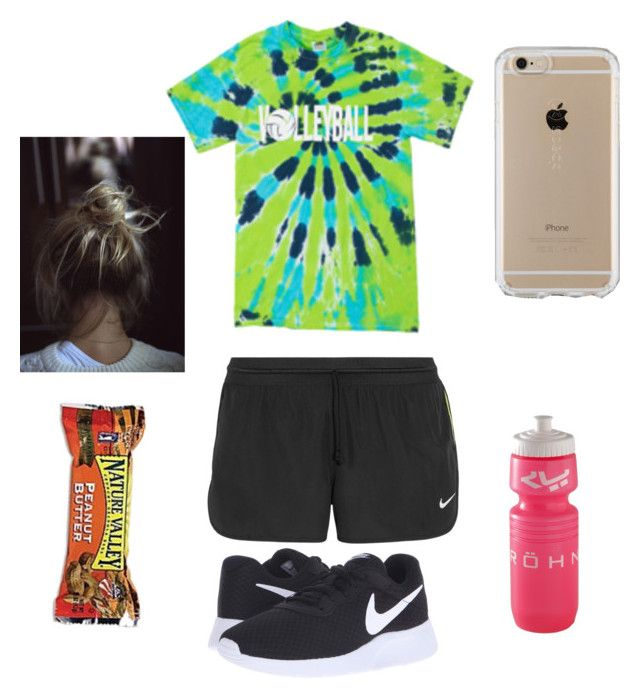 """""""Volleyball tryouts day one"""" by kaitlinmjones on Polyvore featuring NIKE and Speck"""
