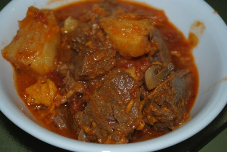 Buffalo Stew (Tanka-me-a-lo) (Cherokee Recipe) 2 Stalks of celery cut to 1 inch pcs.,1 can stewed tomatoes, 2 lbs of buffalo meat cut into 1 inch cubes, 4 Qts water, 2 lbs of potatoes. (not Russet) 1 Cup barley. Brown the buffalo cubes on high heat until seared about 3 min, Add 4 quarts of water, potatoes and carrots and boil until tender. Add stewed tomatoes celery and barley, cook additional 5 minutes. Remove from fire and place into baking dish. Bake at 425 degrees for 30 minutes