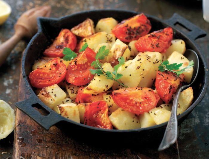 Tomato and Potato Bhaji Recipe
