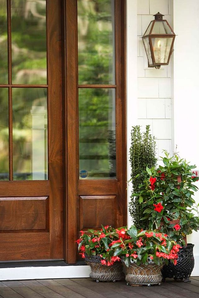17 best images about front door plants on pinterest for White wooden front doors