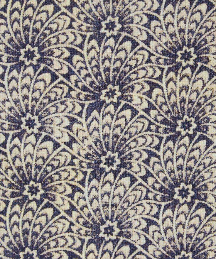 Liberty Art Fabrics Capello Shell Cotton Linen in Blue Eyes   Roll Stock   Liberty.co.uk