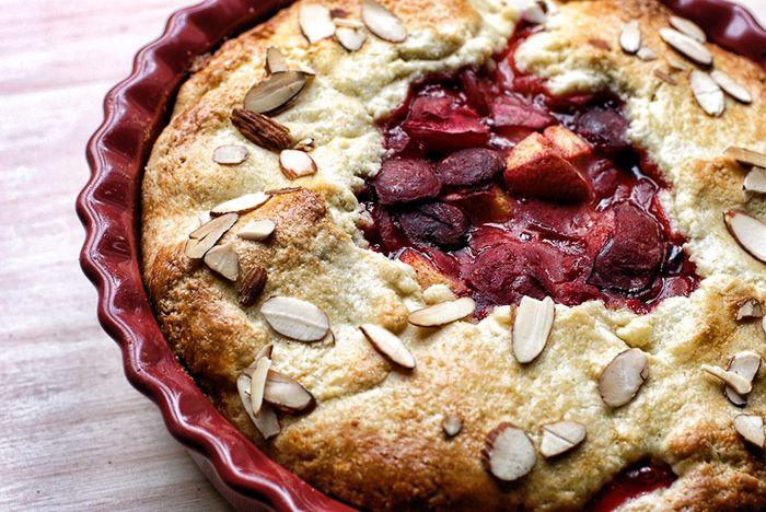 Rustikale Pflaumen-Pfirsich-Torte   – Fruit Share Recipes