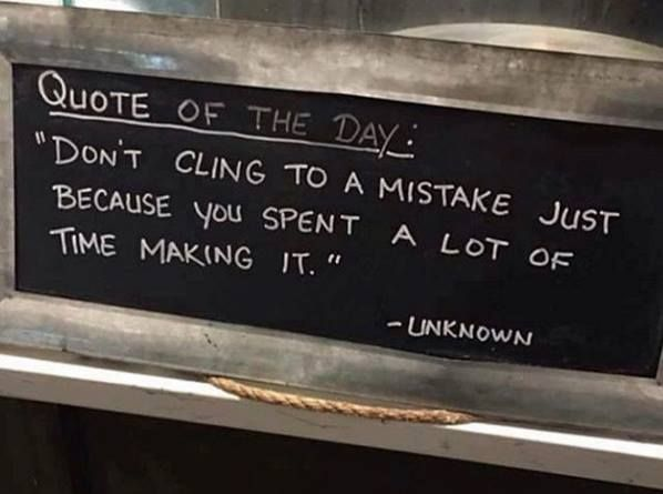Don't cling to past mistakes