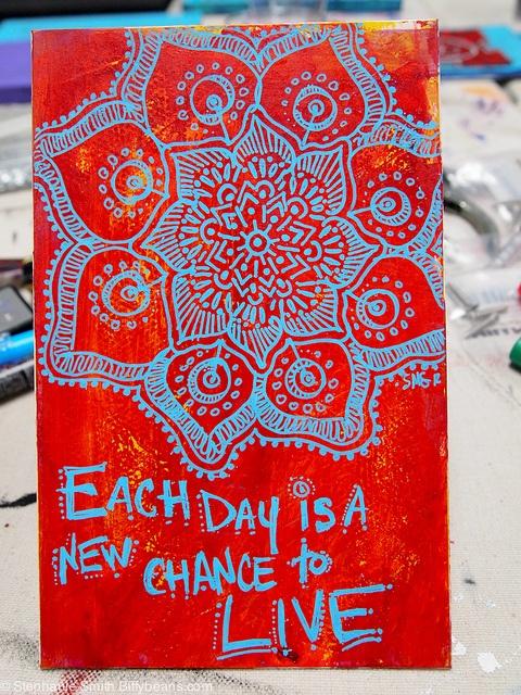 Mandala art by Stephanie Smith. Like Stephanie Smith's Mandala Art on Facebook or visit biffybeans.com