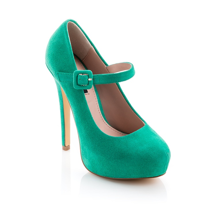 Fab colour!: Fashion, Color, Mary Janes, Green Heel, Pump, High Heels, Shoes Shoes