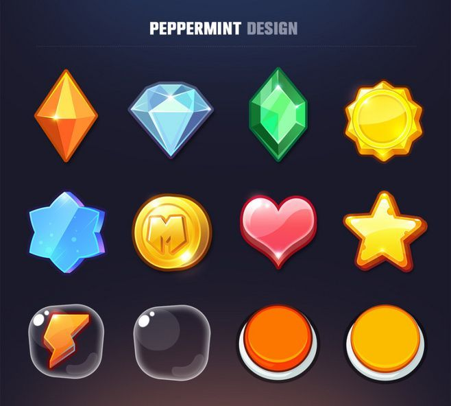 icons | GUI: Icons 图标 Gui Pepperm, Items Accessories, Games Artworks, Accessories Icons, Games Items, 023 Games, Games Design, Games Ui, Games Icons