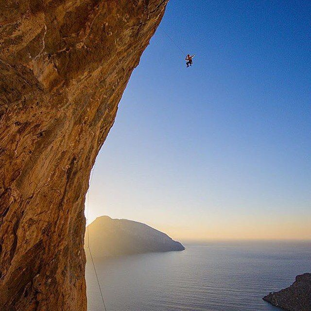 Collecting air miles.. Jack taking the whip on Sirene 7c at Odyssey. Photo via @nathanwelton #klatring #climbing #climbkalymnos #climbing_pictures_of_instagram #send #aacgram #adventureanywhere #bestvacations #deadpointmag #climbingmag #figbar #figtastic #frictionlabs #prana #lasportiva #womenwhoclimb @lasportivana @prana @sendclimbing @frictionlabs @naturesbakery @stridehealth by rannveigaamodt