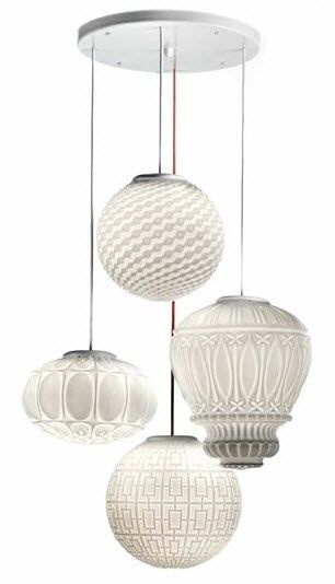 contemporary pendant lamp (blown glass) ARABESQUE 6987/4 MM Lampadari