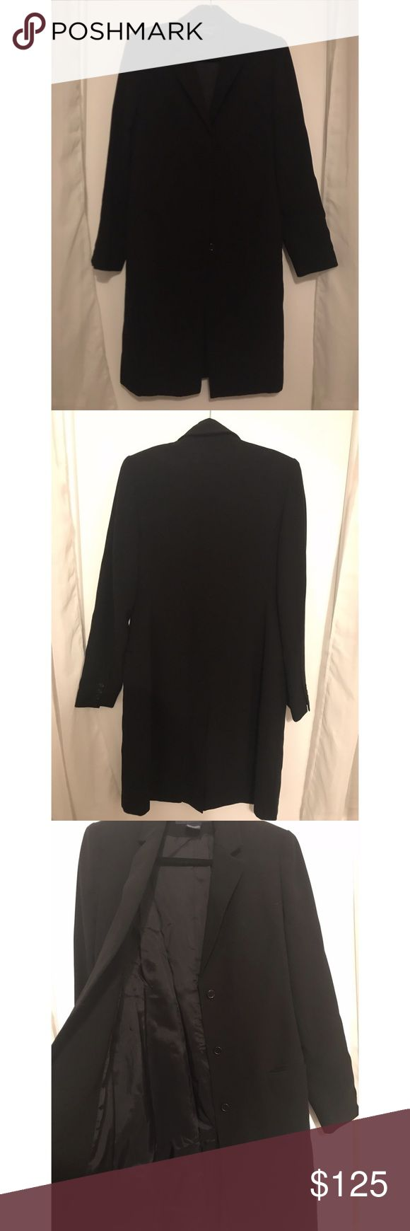 French Connection Dress Jacket Lightly used! Great condition!!  Black, padded shoulders with a split back! French Connection Jackets & Coats Trench Coats