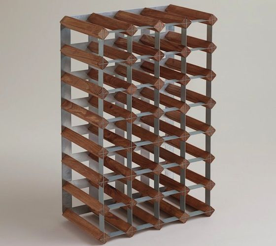 Wood And Metal Industrial Wine Rack – http://thegadgetflow.com/portfolio/wood-and-metal-industrial-wine-rack-100/