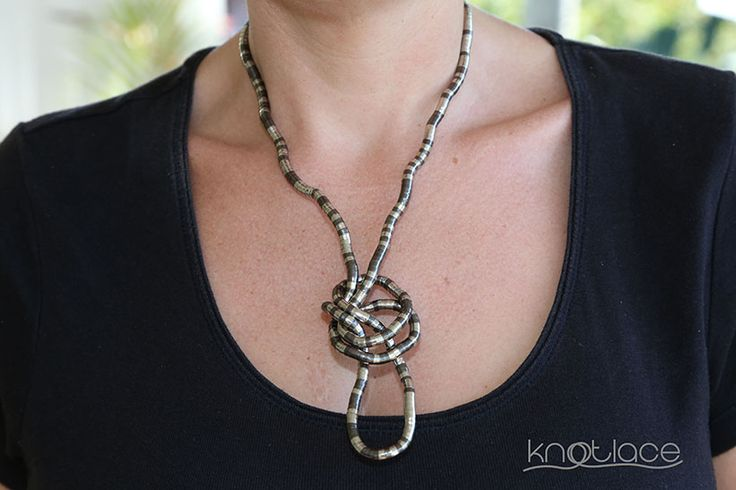 Miss Knotlace – Silver and Gunmetal - http://www.knotlace.com.au/ #style #fashion #accessory #jewellery #silveraccessory