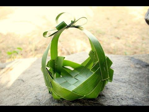 How It's Made - Simple Basket Using Coconut Leaf - YouTube