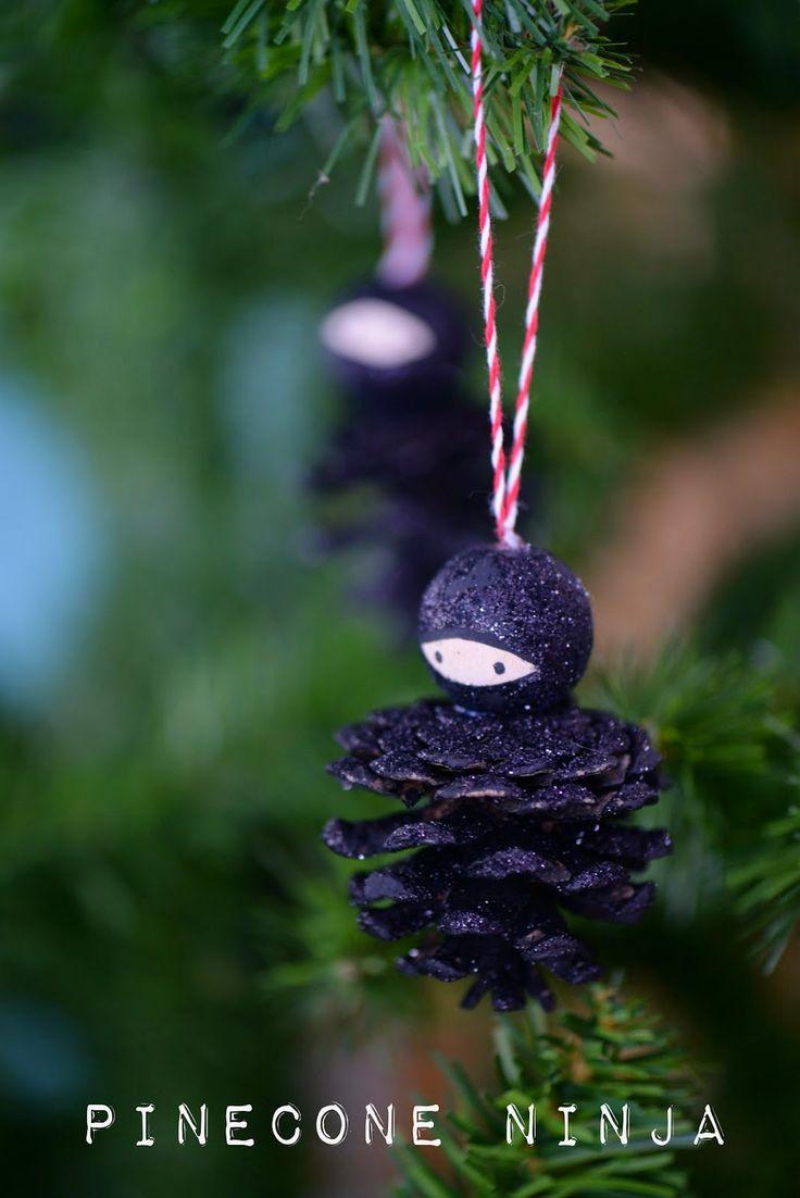 Karate christmas ornament - Twig And Toadstool Pinecone Ninjas Ninja Craftchristmas Stuffchristmas Ornamentschristmas