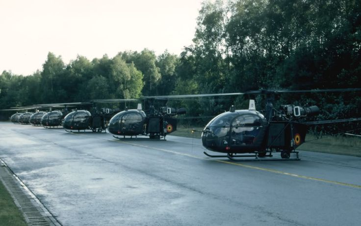 Sud Aviation Alouette II détachement du Flight Heli de Butzweilerhof. Florennes septembre 1984.