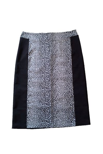 Plus size animal print skirt