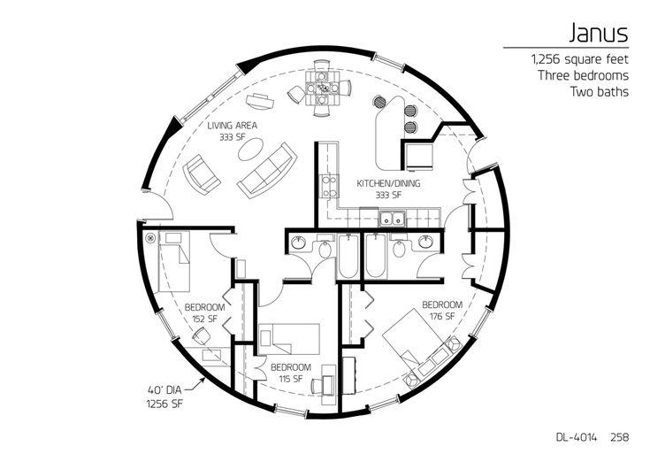 10 best P平面图--圆形平面 images on Pinterest | Architecture, Floor ...