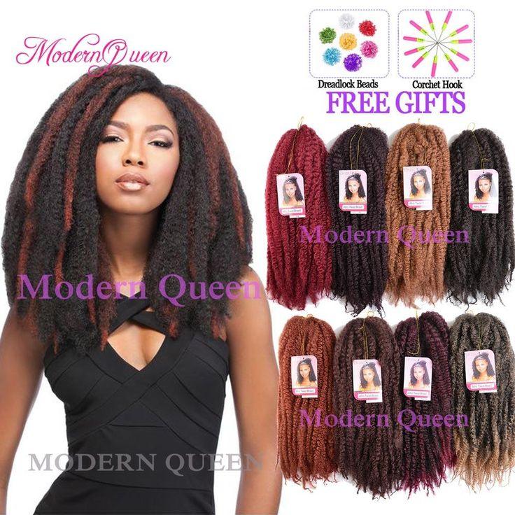 Crochet Braids O Que E : Marley Braid Hair Extension 18inch 100g Kinky Crochet Hair Braids ...