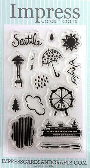Impress Seattle Clear Set Impress Rubber Stamps 15 00
