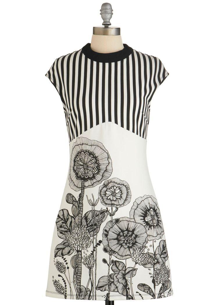 Serene Sketch Artist Dress   Mod Retro Vintage Dresses   ModCloth.com