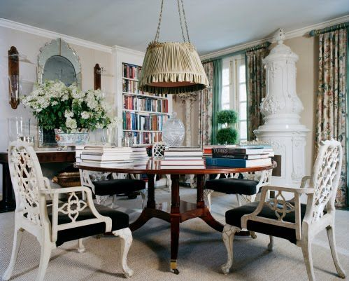 Exceptional Library Meets Informal Dining Room At Oscar De La Rentau0027s Connecticut Home.