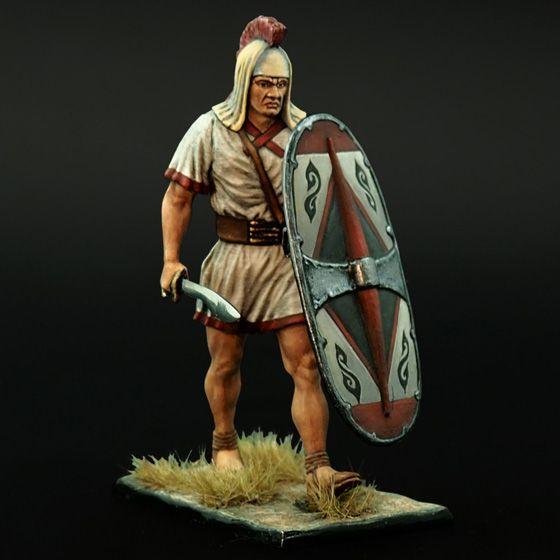 Иберийский воин в армии Карфагена вооруженный фалькатой.