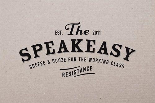 Speakeasy signage for bar option