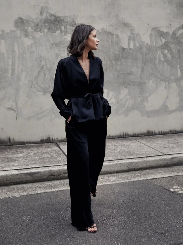 Christopher Esber Black Wrap Top Style Outfit Australian Fashion Blogger