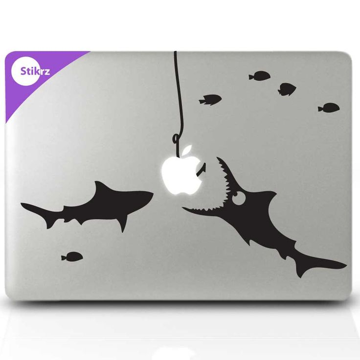 Lol funny decal mac book decals macbook stickers and laptop stickers shark party decal