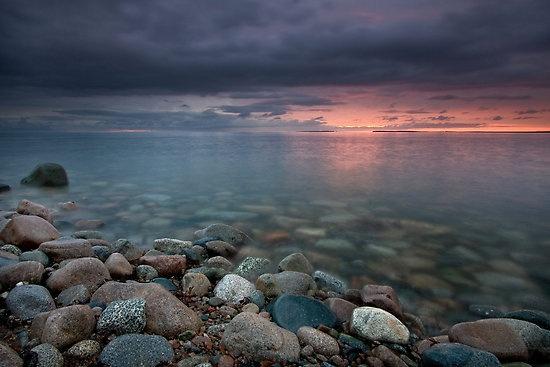 Sunrise - St. Anne's Bay - Cape Breton Nova Scotia - It really is that beautiful.