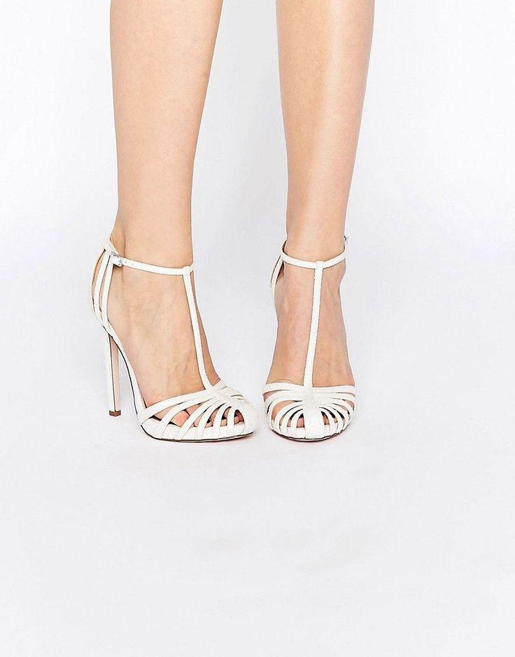 Image 1 ofASOS PEACE Bridal Caged High Heels