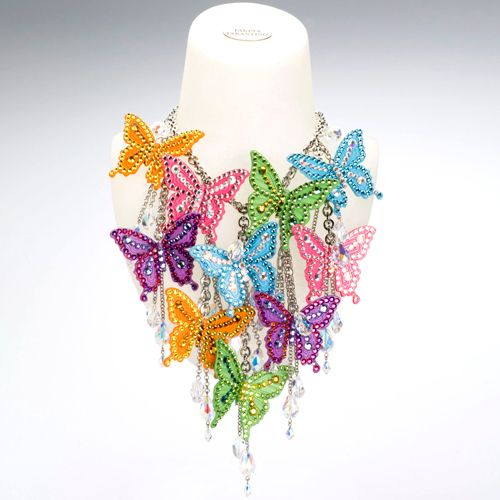 This necklace from Tarina Tarantino's Pretty Collection is hardcore.  If it wasn't twice my rent I would dare to wear it.