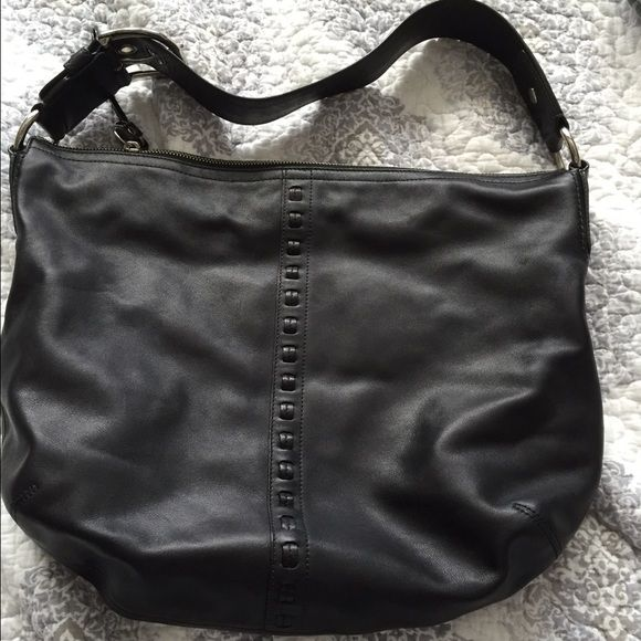 Black Coach purse Black Coach purse. Smaller. Great for going out  at night or wear to office. Leather material Coach Bags