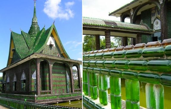 Thailand Beer Bottle Temple travel.spotcoolstuff.com/thailand/wat-lan-kuat/beer-bottle-temple