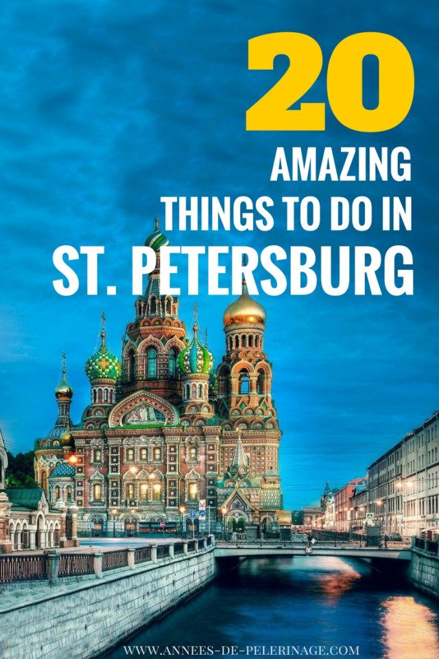 20 amazing things to do in St. Petersburg, Russia