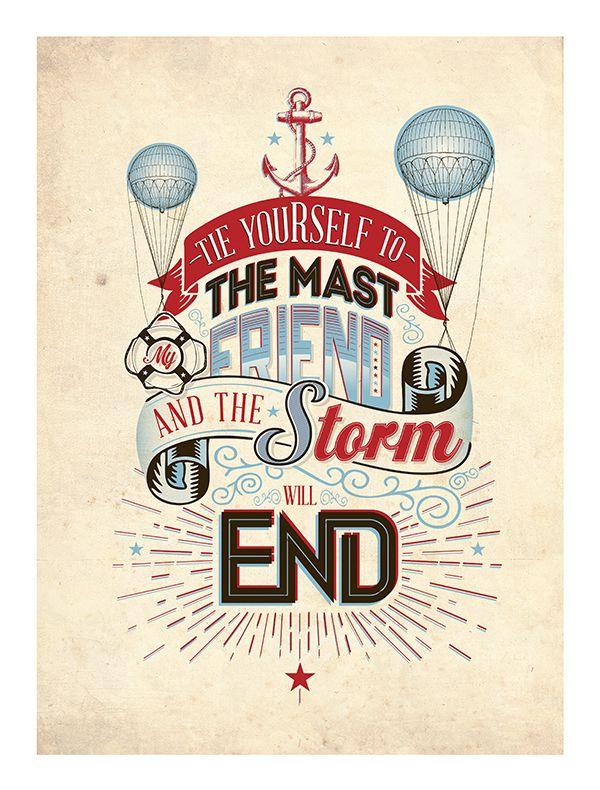 Typography Posters x2 by Luke Shropshire, via Behance