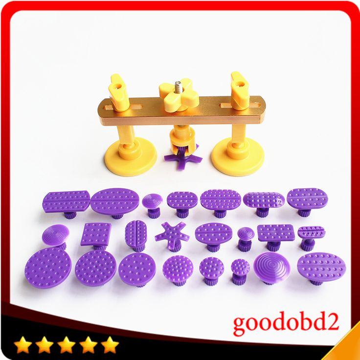 Bridge Dent Puller Kit Auto Body Dent Removal Tools Pops Dent & Ding PDR Tools Car Repair with 24pc Different Size PDR Glue Tabs
