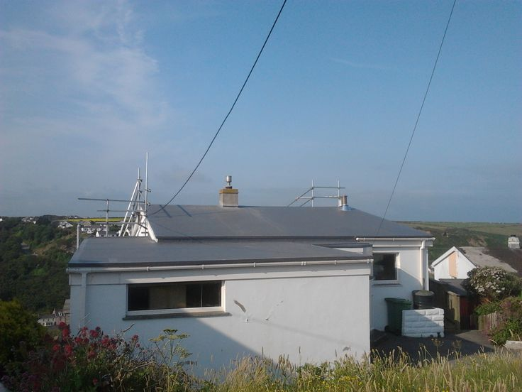 Single ply roofing in Portreath  Cornwall