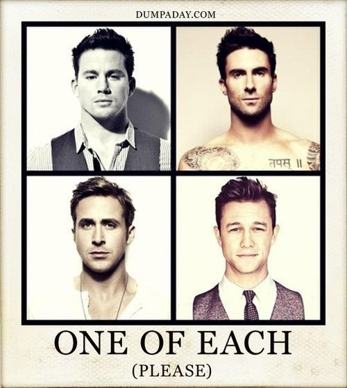 Yes Please! (Channing Tatum, Adam Levine, Ryan Gosling, Joseph Gordon-Levitt)