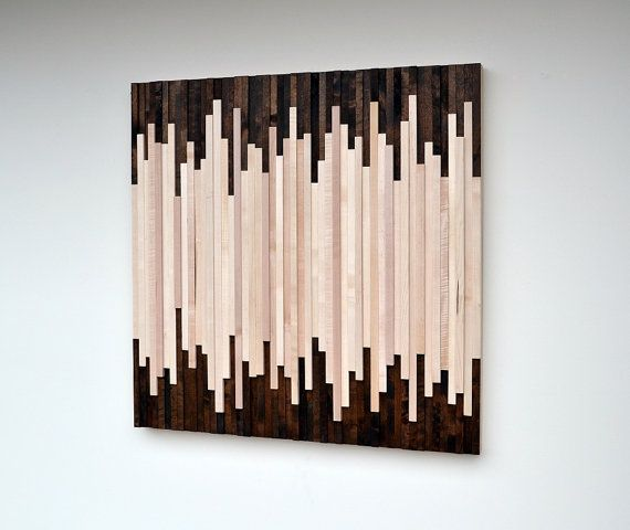 Rustic Wood Wall Art - Wood Sculpture Wall Installation on Etsy, $625.00