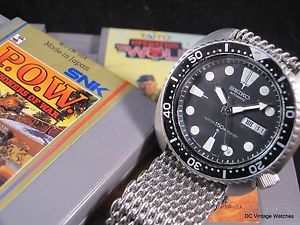 NEW DCVW AUCTION: Nearly All-Original 1979 Seiko 6309-7040 Japanese Domestic Market Automatic Diver w/Heavy Mesh Strap